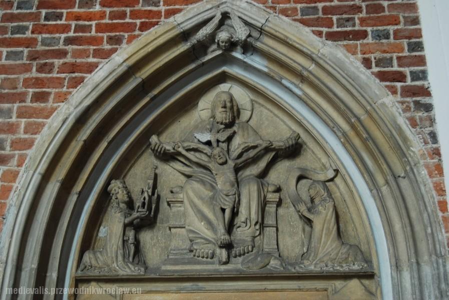 Tympanon Tronu Łaski, kościół Św. Krzyża we Wrocławiu
