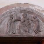 Tympanon fundacyjny Marii Włostowicowej, kościół Najświętszej Marii Panny we Wrocławiu