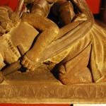 Postać Tatara, Płyta nagrobna Henryka II Pobożnego, Warsztat twórcy nagrobka Bolka II świdnickiego, ok. 1383-85, Muzeum narodowe we Wrocławiu