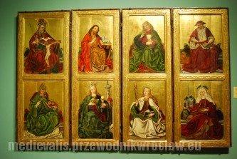 Skrzydła ołtarzowe z przedstawieniami świętych, Mistrz wrocławski, ok. 1470-80, Muzeum Narodowe we Wrocławiu
