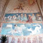Lubiechowa, polichromie północnej ściany prezbiterium