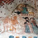 Polichromie w Lubiechowej, król Dawid, para półnagich i para odzianych