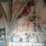 Kościół św. Piota i Pawła w Lubiechowej,polichromie północnej ściany prezbiterium