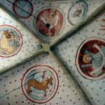 Polichromie w Lubiechowej, sklepeinie, symbole czterech ewangelistów