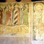 Wieża w Siedlęcinie, rycerz z panną, rycerz z mężatką, św. Krzysztof