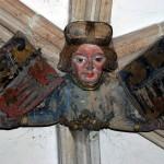 Henryk IV Probus na zworniku sklepienia kapitularza, kościół św. Krzyża we Wrocławiu