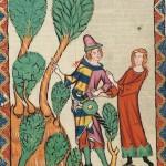 Rubin von Rüdeger , Kodeks Manesse, UB Heidelberg, Cod. Pal. germ. 848, fol. 395r