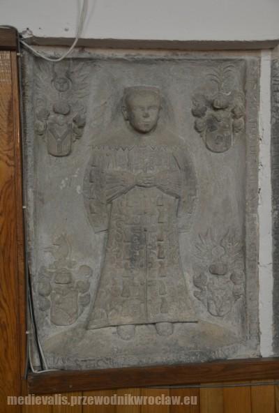 Borzygniew, epitafium dziecka z rodu von Schindel